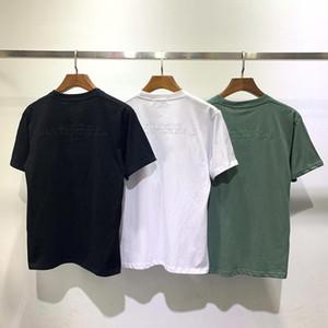 Мужская тенниска 20SS Мода Same пункт Отражающие значок Повседневный Polos короткими рукавами футболки мужчин и женщин Hip Hop High Quality Tee