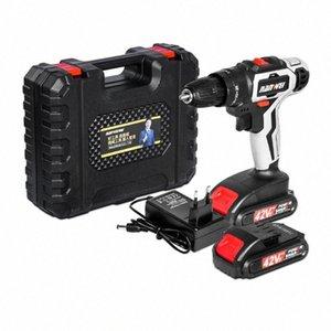 42v doble velocidad destornillador eléctrico Taladro recargable de litio luz de la batería Herramientas Taladro eléctrico conductor de la llave Nueva RoF4 #