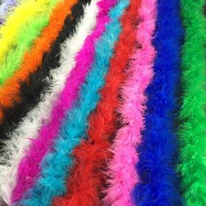 Hot Selling 2 Meters Wedding Party Decorations Feather Boa Strip Fancy Dress Dance Costume Scarf Party Decorations Decor Supplies