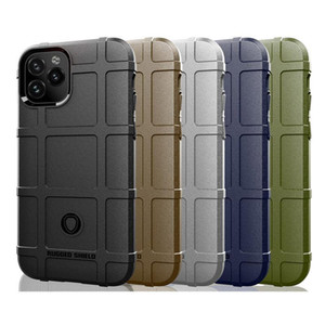 Rugged Shield Armor Silicone Case For iphone 11 Pro XR XS Max Samsung Note 10 S20 Ultra LG Q70 K51 Google Pixel 4