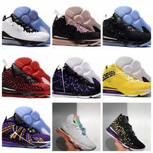 xshfbcl cheap mens new lebron 17 basketball shoes for sale Purple Yellow Glow in dark MVP womens youth kids lebrons james sneakers 40-45
