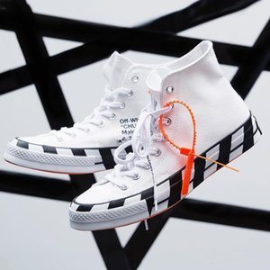 2020 Stripe Chuck 70 All White Canvas Shoes Taylor 1970s Star Skateboarding Sneakers Designer Chucks Outdoor Casual shoes 36-44