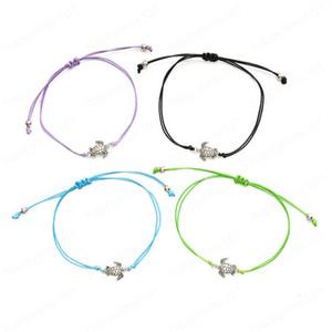 Bracelet Tortue Wax Concise cordes Weave peut ajuster Prendre Pull Bracelet main Décore