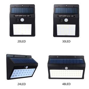 Açık Garden için Güneş dış duvar lambası 20/30/48 LED Su geçirmez IP65 Güneş PIR Hareket Sensörü Işık ayarlanabilir Işık Yolu Acil Işık