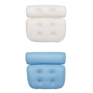 2pcs Bathtub Bath Pillow Non-Slip Head Shoulder Back Rest Cushions