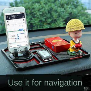 3yPYz creative dashboard Silicone non-slip mat ornament non-slip mat car car silica gel mobile phone holder high temperature resistant stor