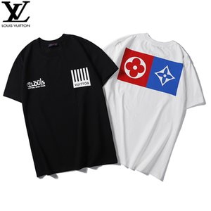 2020 New Summer Men Designers T-Shirt Casual Mens Tees With LVLouisVuittonLetters Print Short Sleeves Luxury Mens T-Shirt #12
