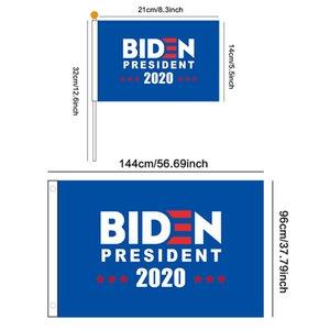 8pcs lot 2020 Joe Biden Flag Hand flags set US America Presidential Election Polyester Decor Banner Keep America Great Banners LJJA4138