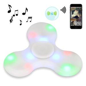 بلوتوث مشغل MP3 فنجر مع قادته الولايات المتحدة ملونة أضواء مضادة الاجهاد الصمام لعبة اليد سبينر للطفل هدية عيد الميلاد الكبار
