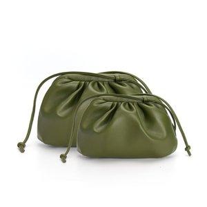 Дизайнер Новой Облако Форма женского дня сцепление сумка плиссированных Клецки плечо Сумка Малый Plain Cute Lady Crossbody Сумочка