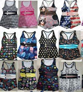 New High quality Women swimsuit animal shark swimwear push up tank top bra + swim shorts 2 piece Luxury bikini set girls swimming suit D7801