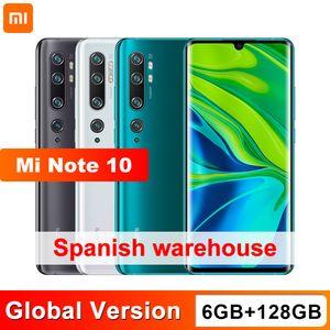 Global Versión Xiaomi Mi Nota 10 6 GB 128 GB 108MP Penta cámara del smartphone Snapdragon 730 gramos Octa Core 5260mAh