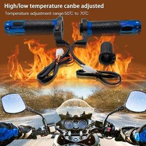 Hot! Chauffage électrique Guidon moto chauffants poignée de moto commutateur à trois niveaux Thermostat Chauffage Poignées