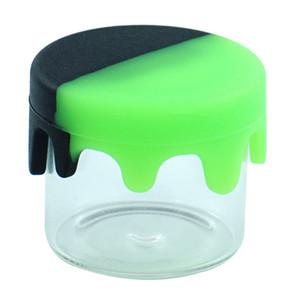 6 ml Glasbehälter Nichtstick Wachsbehälter Silikondeckel Glaskasten Ölgewebe Ölhalter für Verdampfer Vape DAB Werkzeug Lagerung