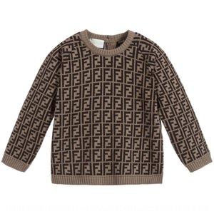 2020 pullover del ragazzo F lettere uomini di s bambino Pullover maglione camicia di base Zhong Xiao Tong girocollo a maniche lunghe maglione