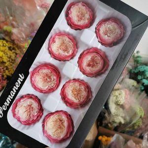 4-5см / 8шт, Grade A Сохранилось Остин розы голова, цветы Подарочные Eternal Rose для свадьбы партии украшения, свадебный головной убор пользу