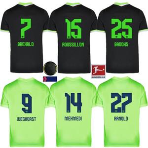 Kit enfants VfL Wolfsburg Heimtrikot WEGHORS Maillots de football 2020 21 KLAUS MALLI STEFFEN MEHMEDI ROUSSILLON BROOKS ARNOLD Chemi Brekalo Football