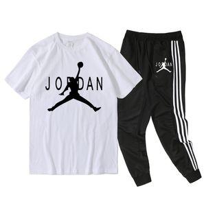 Para hombre camisetas pantalones 2pcs sistemas de la ropa Pantalones cortos Jordan Trajes Nipsey hussle chándales del verano del Mens diseñador