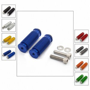 8 mm CNC Estriberas Foot Pegs estribera motocicleta Foot Reposapiés Pegs Pedal universal Para YZF R1 R6 R3 R15 MT07 MT09 R125 2woC #