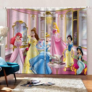 European Curtains Pink Curtains For Girls Photo princess Blackout Drapes For Room Decoration