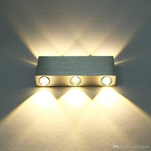 Moderna bianco puro 18W High Power 6 LED su giù lampada da parete della luce del punto di illuminazione del riparo specchio convesso LED riparo della parete di decorazione