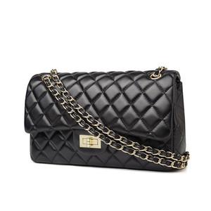New Fashion luxury sheep skin stripped long braided chain classic shoulder bag woman lady designer handbags