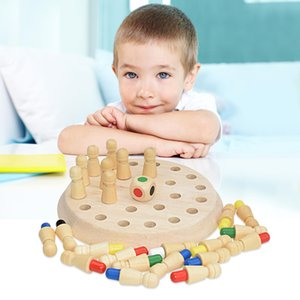Kids Wooden Memory Match Stick Chess Game Fun Block Board Game Educational Color Cognitive Ability Toys For Children Party Game Gifts toy