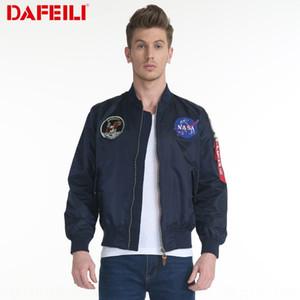 DAFEILI otoño delgada APOLO NASA Fuerza Aérea de los Estados Unidos MA-1 chaqueta de piloto chaqueta de las mujeres de los hombres y de las