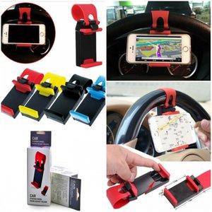 Steering Wheel car telefone soquete suporte a SMART Clipe carro montar bicicleta para iPhone6 iPhone 6 Plus S5 S4 NOTA 2 com pacote de varejo