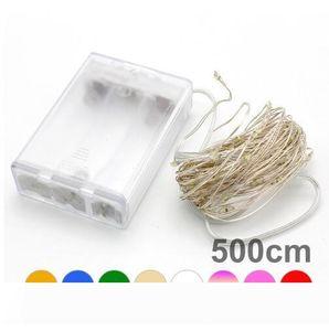 5M 50LED 3XAA Batterie LED-Lichterketten für Weihnachten Girlande Party Hochzeitsdekoration Weihnachts Flasher Lichterketten