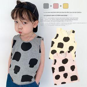 MN1218 2020 Top vest New loose casual printed top small and medium children full print cartoon vest
