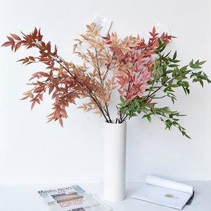 Nantianzhu Flor de tela base de la hoja de ruta de la boda material de arco de la boda de oro rojo hojas florales decorativos arreglo floral le