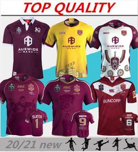 2020 2021 Liga Nacional de Rugby Queensland QLD cimarrones Malou Jersey de rugby 19 20 21 QLD MAROONS ESTADO DE ORIGEN Jersey de rugby