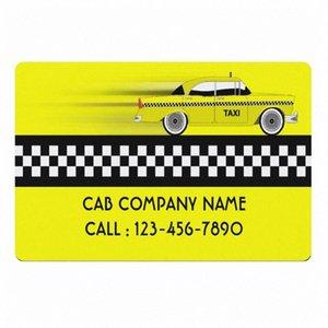Amarelo verificado Taxi Cab Company Negócios personalizado Bem-vindo Capacho New York Cabs Serviço driver personalizado Doormat Rug Tapete vwL9 #