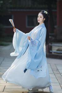 Hanfu Mujeres vestido chino 2020 trajes de Nueva antigua dinastía Han princesa de ropa Chinese Folk Dance Dress hanfu Cosplay SL3771