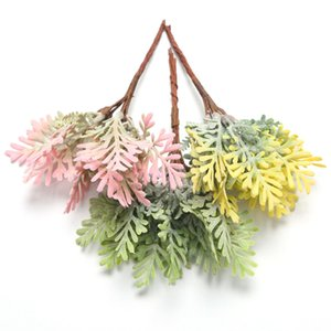 Marchwind 10Pcs lot Mini Acorn Leaf Artificial Flowers Fake Plants for Home Wedding Christmas DIY Craft Wreath Scrapbooking Decoration