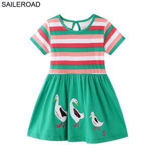 SAILEROAD animal canard Robe fille Applique 2-7ans enfants robe de princesse pour Vêtements de bébé fille robes élégantes pour les filles Vestidos