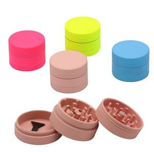Herb Grinder Metal 40MM diameter 3 part rubber paint Zinc Alloy Multi colors Tobacco Crusher Customizable LOGO