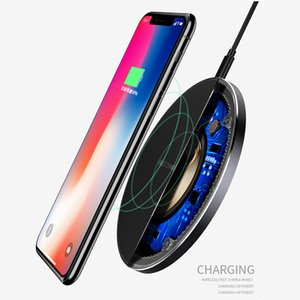 Wholesale Luxury Thin GY68 Fast Wireless Charger 5W 7.5W 10W QI Wireless Charge Pad Compatible for Airpods iPhone 8 Plus X 11 for Samsung LG