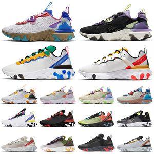 nike react vision element 87 55 koşu ayakkabıları erkekler kadınlar shoes erkek eğitmenler açık spor sneaker