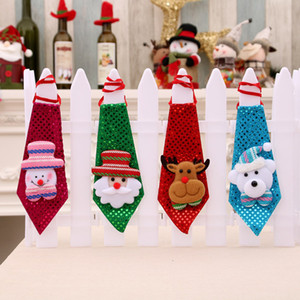 Adult Children Sequins Necktie The Elderly Snowman Elk Bear Tie Christmas Decorate Neckties As Gifts With Various Patterns 3yh J1