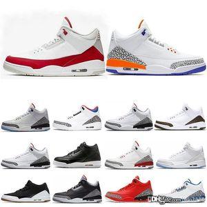 Cair 1 JORDAN 1 Men 3 3s Basketball Shoes Cidade preta de voo Tinker UNC Mocha lance livre linha Mens instrutor Sports Sneakers 7-13