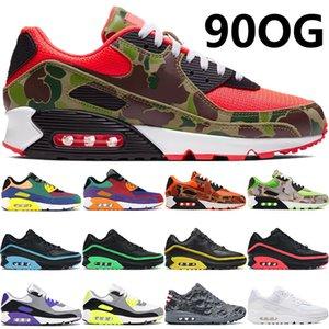 90OG coussin chaussures de course inverse canard camo Lucid jeu vert royal triple blanc noir Hyper raisin Hommes Chaussures femmes formatrices US 5.5-11