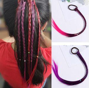 Нового Beuty милых девушек Упругих волосы Rope Резинка Braides парик хвостик волосы кольцо Дети Twist Braid волосы веревочка плетельной