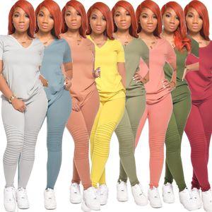 Frauen Anzug 2-teiliges Set Shorts Designer Jogging Sportsuit T-Shirt lange Hosen Outfits Plus Size Damen Casual Wear Hot Selling 2020
