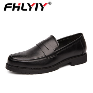 Fhlyiy Brand Retro Dress Brogue Style Party Formal Wedding Shoes Men Flats Leather Oxfords Slip on Loafe CX200731