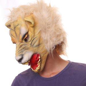 할로윈 타이거 마스크 라텍스 코스프레 공포 붉은 악마 할로윈 파티 혼 MaskParty 소품 무료 배송 좋은 품질