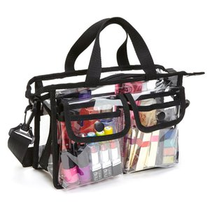Thickening PVC Transparent Beach Bag Women Clear Shoulder Bag Portable Fashion Womens Bags Travel Organizer Cosmetics Wash Bags