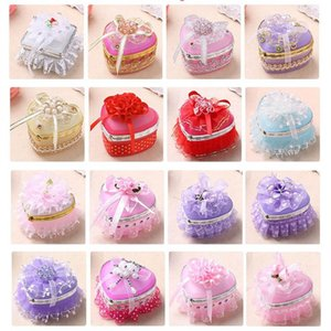 Lace Cloth art Jewelry Box Ring Stud Earrings Adorn Article to Receive a Heart-shaped Wholesale Jewelry Display boxes heart-shaped candy box