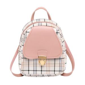 Vento Marea Мини рюкзак Crossbody сумка для подростков девушка Plaid Женщины плеча телефона Кошелек корейский Новый Модный Женский Bagpack